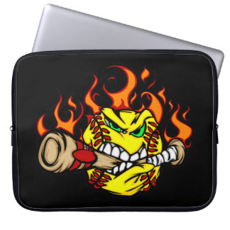 Softball Fury Laptop Sleeve