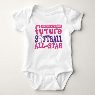 Softball futuro toda la Estrella-Mamá Mameluco De Bebé
