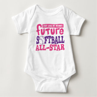 Softball futuro toda la Estrella-Mamá Playeras