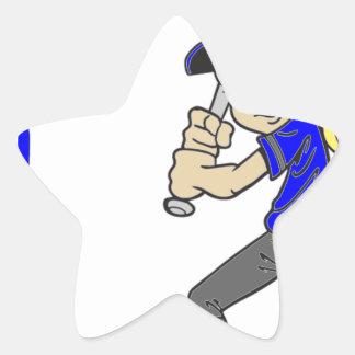 SOFTBALL GIRL BAT STAR STICKER