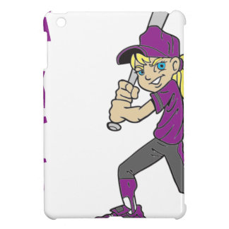 SOFTBALL GIRL BAT TEXT iPad MINI COVER