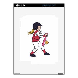 Softball Girl iPad 2 Skins