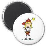 Softball Girl Magnet Magnets
