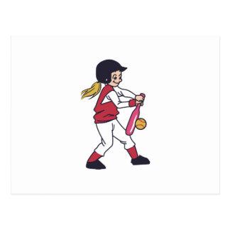 Softball Girl Postcard