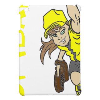 SOFTBALL GIRL THROWING TEXT COVER FOR THE iPad MINI