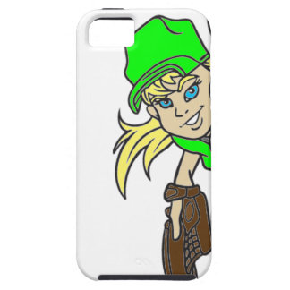 SOFTBALL GIRL THROWING TEXT iPhone SE/5/5s CASE