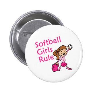 softball girls rule 2 inch round button