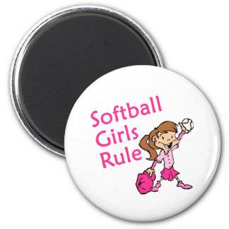 softball girls rule 2 inch round magnet
