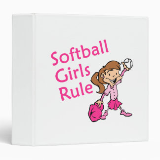 Softball Girls Rule Vinyl Binder