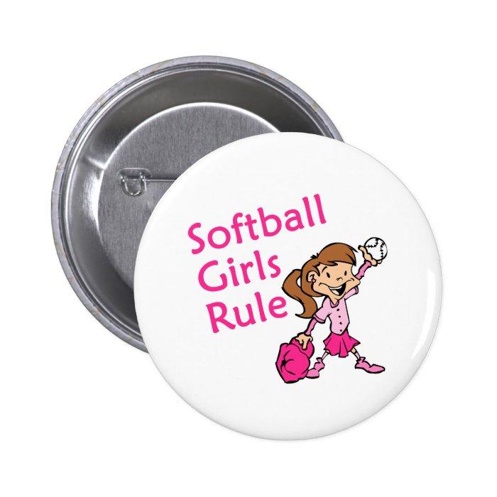 softball girls rule button