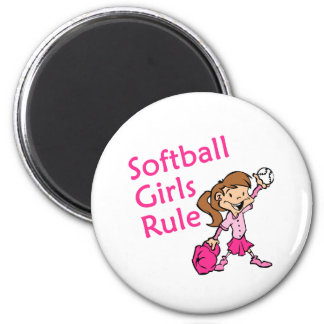 softball girls rule magnet