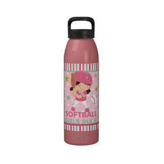 Softball Girls Rule Water Bottle