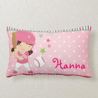 Softball Girly Personalized Pillows