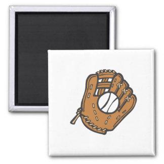 Softball & Glove 2 Inch Square Magnet