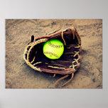 Softball Glove Poster