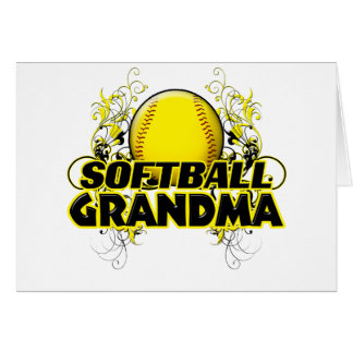 Softball Grandma (cross).png Card
