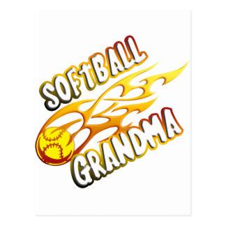 Softball Grandma (flame).png Postcard