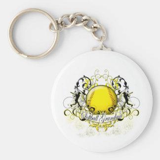 Softball Grandma Keychain