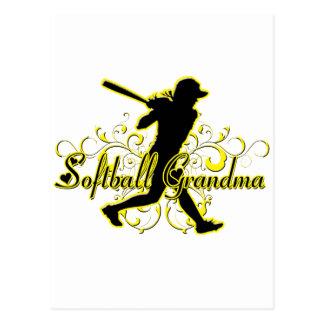 Softball Grandma (silhouette).png Postcard