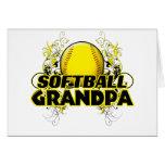 Softball Grandpa (cross).png Greeting Cards