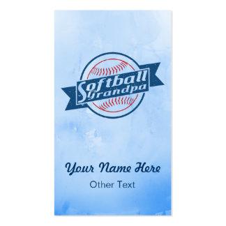 Softball Grandpa Customizable Business Cards