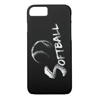 Softball Grunge Design iPhone 7 dark case