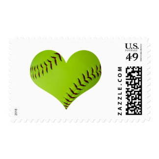 softball heart stamp