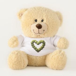 Softball Heart Yellow Softball Love Teddy Bear