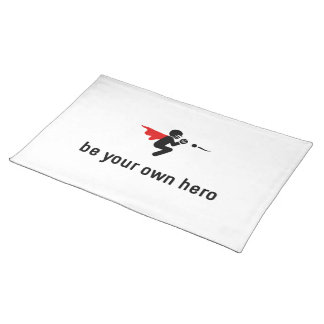 Softball Hero Cloth Placemat
