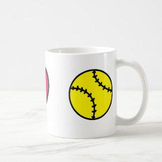 Softball I Heart Classic White Coffee Mug