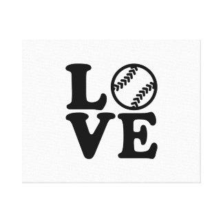 Softball Impresión En Lienzo