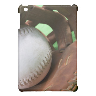 Softball in catcher's glove case for the iPad mini