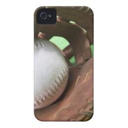 Softball in catcher's glove Case-Mate iPhone 4 case