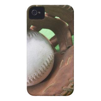 Softball in catcher's glove iPhone 4 case