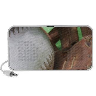 Softball in catcher's glove portable speakers