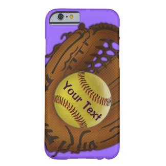 Softball iPhone 6 Case with YOUR TEXT