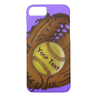 Softball iPhone 7 Case with YOUR TEXT