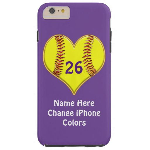 Softball iPhone Case YOUR COLORS and TEXT