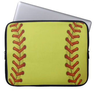 Softball is fun computer sleeve