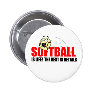 Softball Is Life Buttons