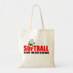 Softball Is Life Tote Bag at Zazzle