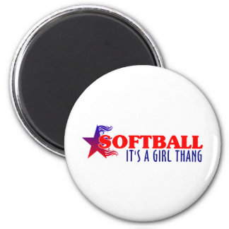 SOFTBALL- It's A Girl Thang Magnet