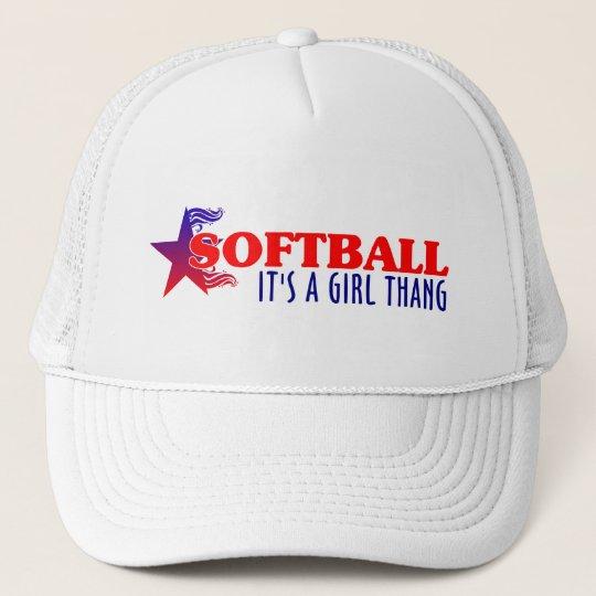 SOFTBALL- It's A Girl Thang Trucker Hat