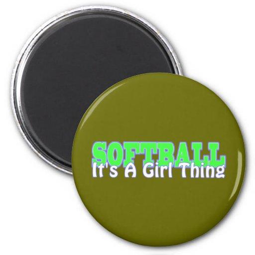 Softball- It's A Girl Thing Fridge Magnets