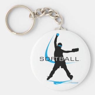 Softball - jarra llavero redondo tipo pin