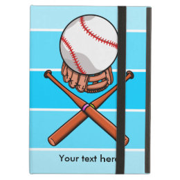 Softball Jolly Roger With Blue Stripes iPad Air Cover