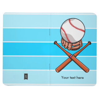 Softball Jolly Roger With Blue Stripes Journal