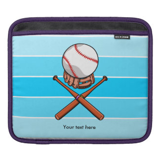 Softball Jolly Roger With Blue Stripes Sleeve For iPads
