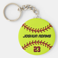 Softball Keychain For Sports Fans And Athletes at Zazzle