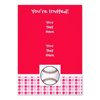 """Softball lindo invitación 5"""" x 7"""""""